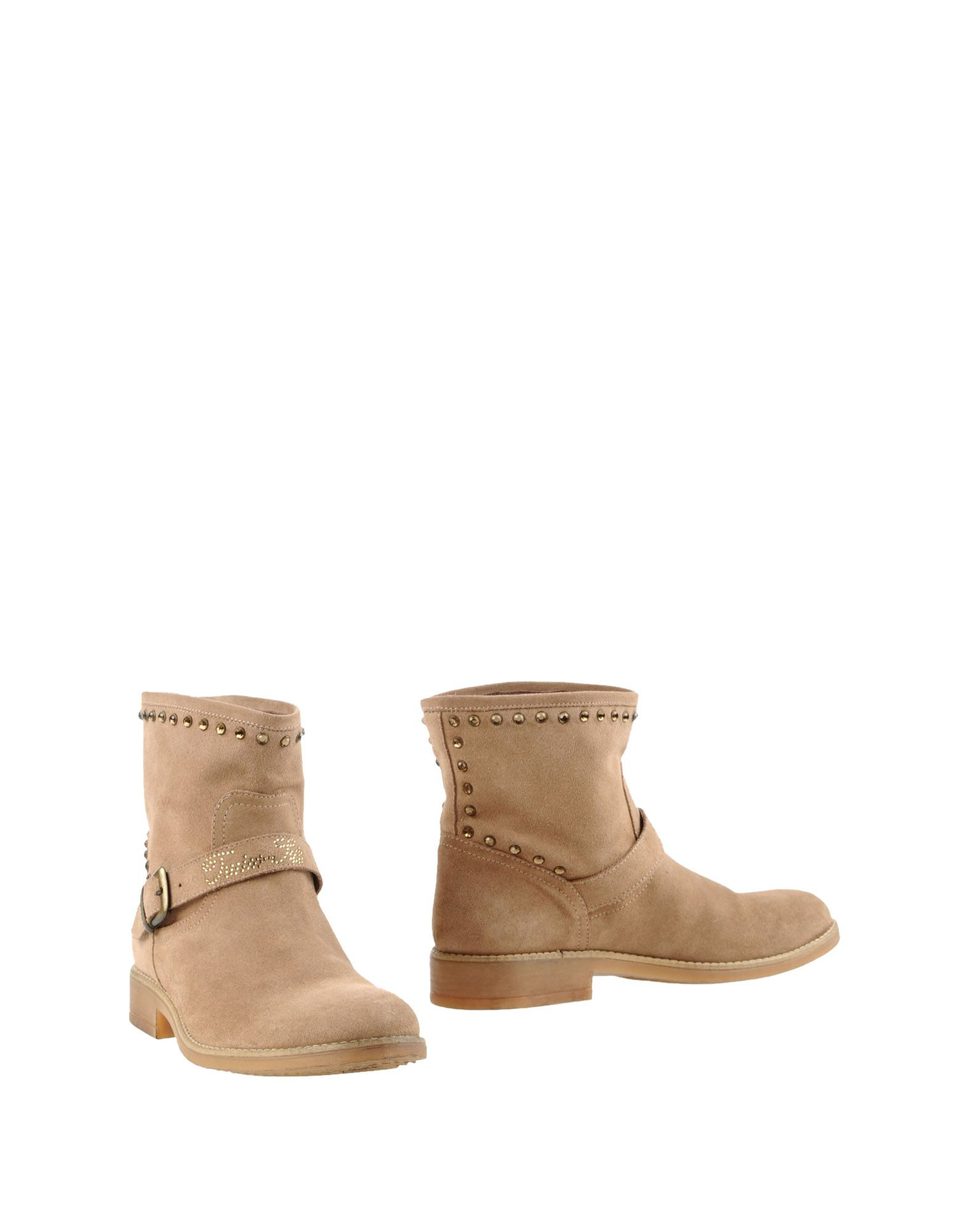 set ankle boots in beige camel lyst