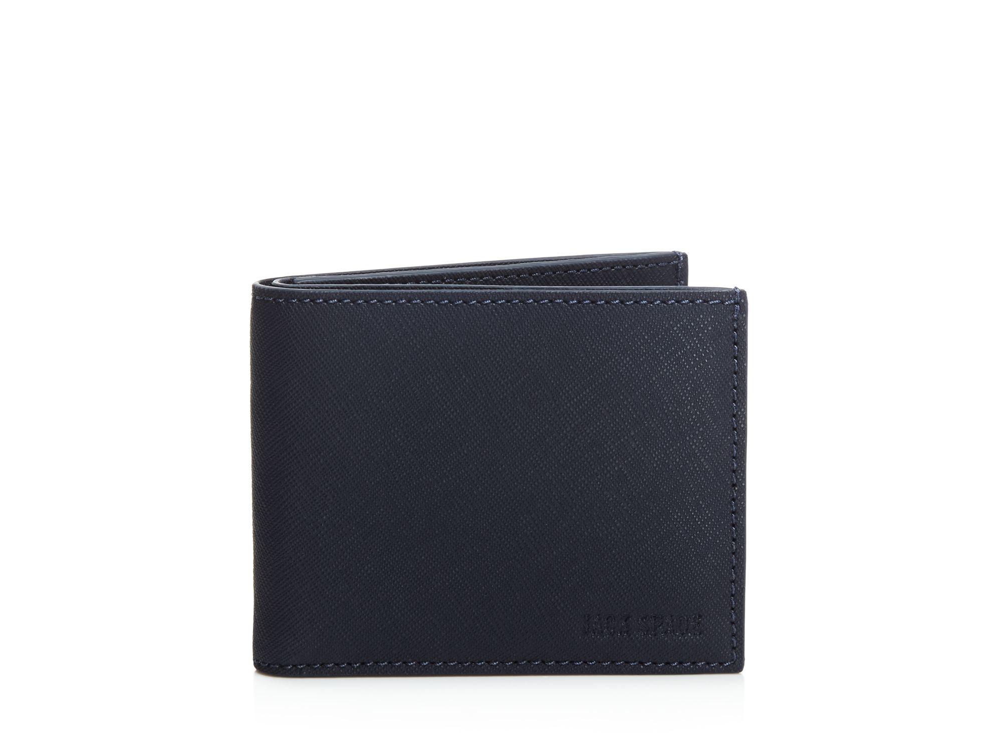 0195a04033418 Lyst - Jack Spade Barrow Leather Slim Billfold Wallet in Blue for Men