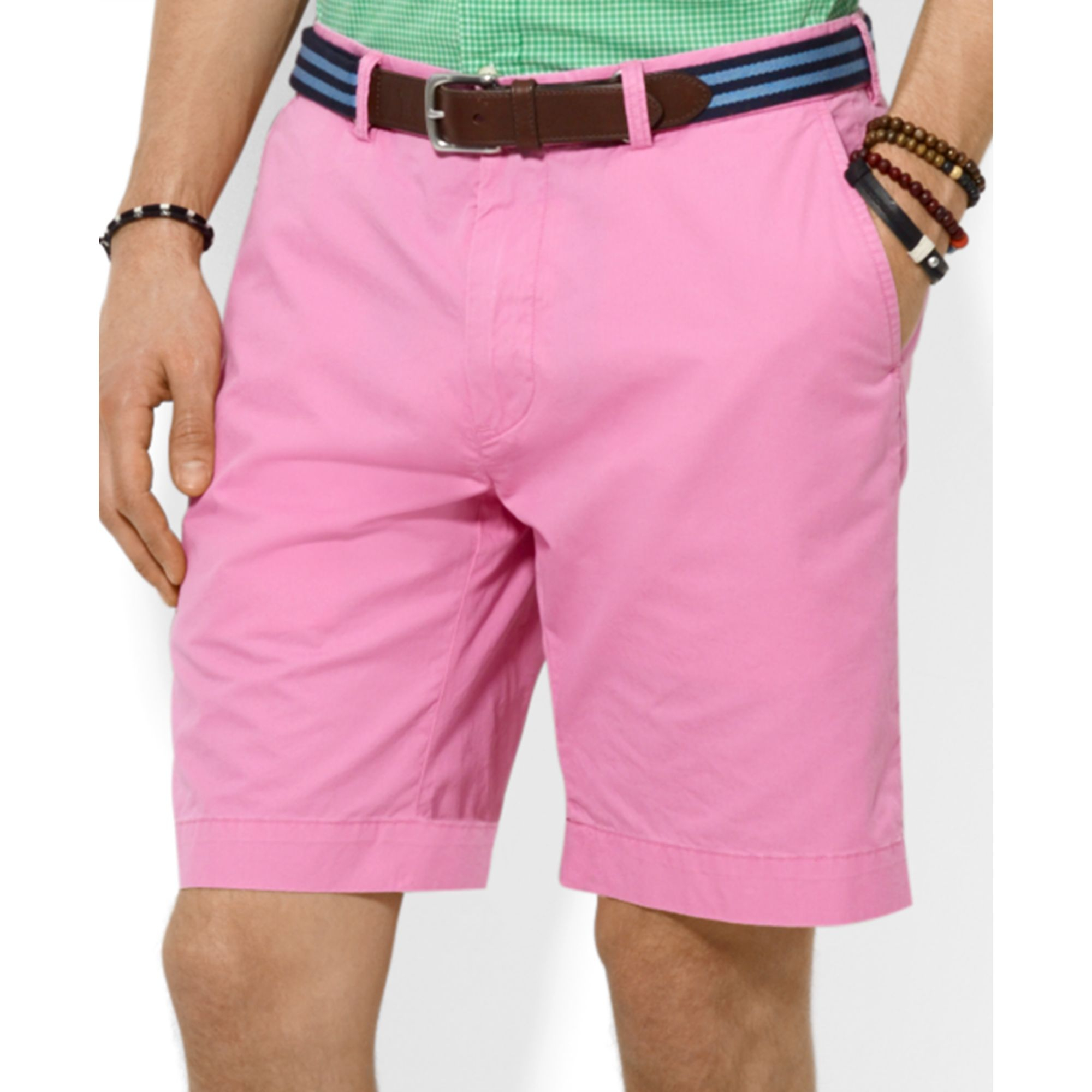 3ce03059b4 Ralph Lauren Pink Polo Classicfit Lightweight Chino Shorts for men