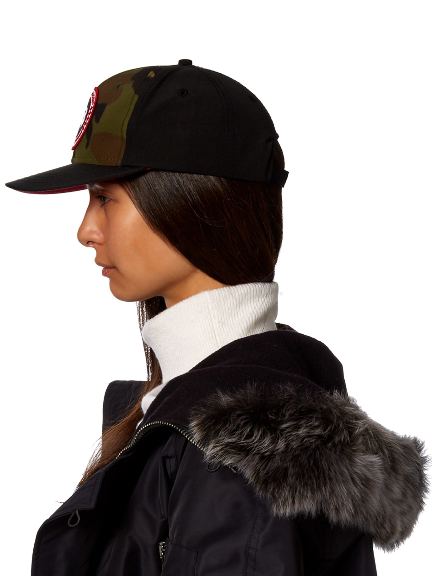 94c7ced4c8f Canada Goose Logo-embroidered Camouflage-print Cap in Black - Lyst