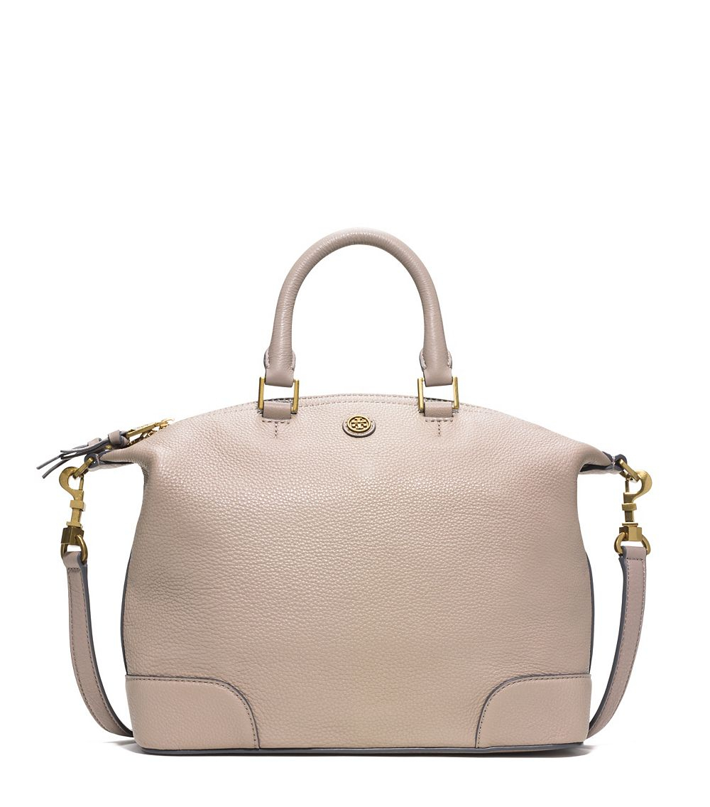 971b4d42229 Tory Burch Frances Small Slouchy Satchel in Natural - Lyst