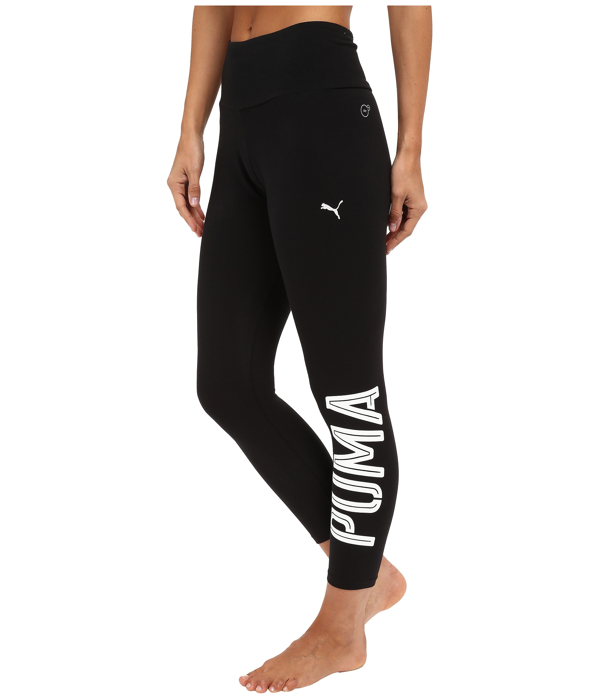 Puma Style Swagger 3 4 Leggings In Black Lyst