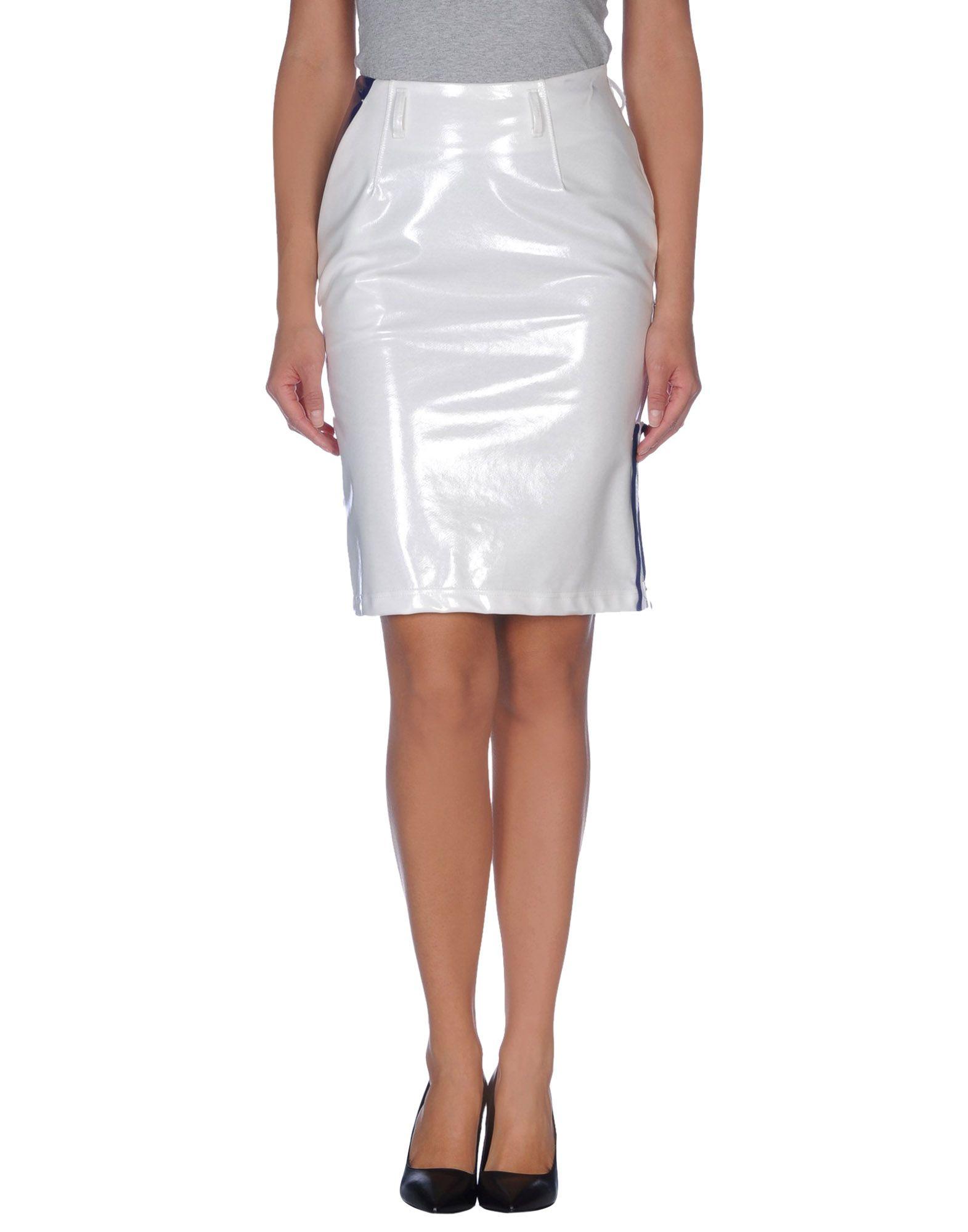 kolor knee length skirt in white lyst
