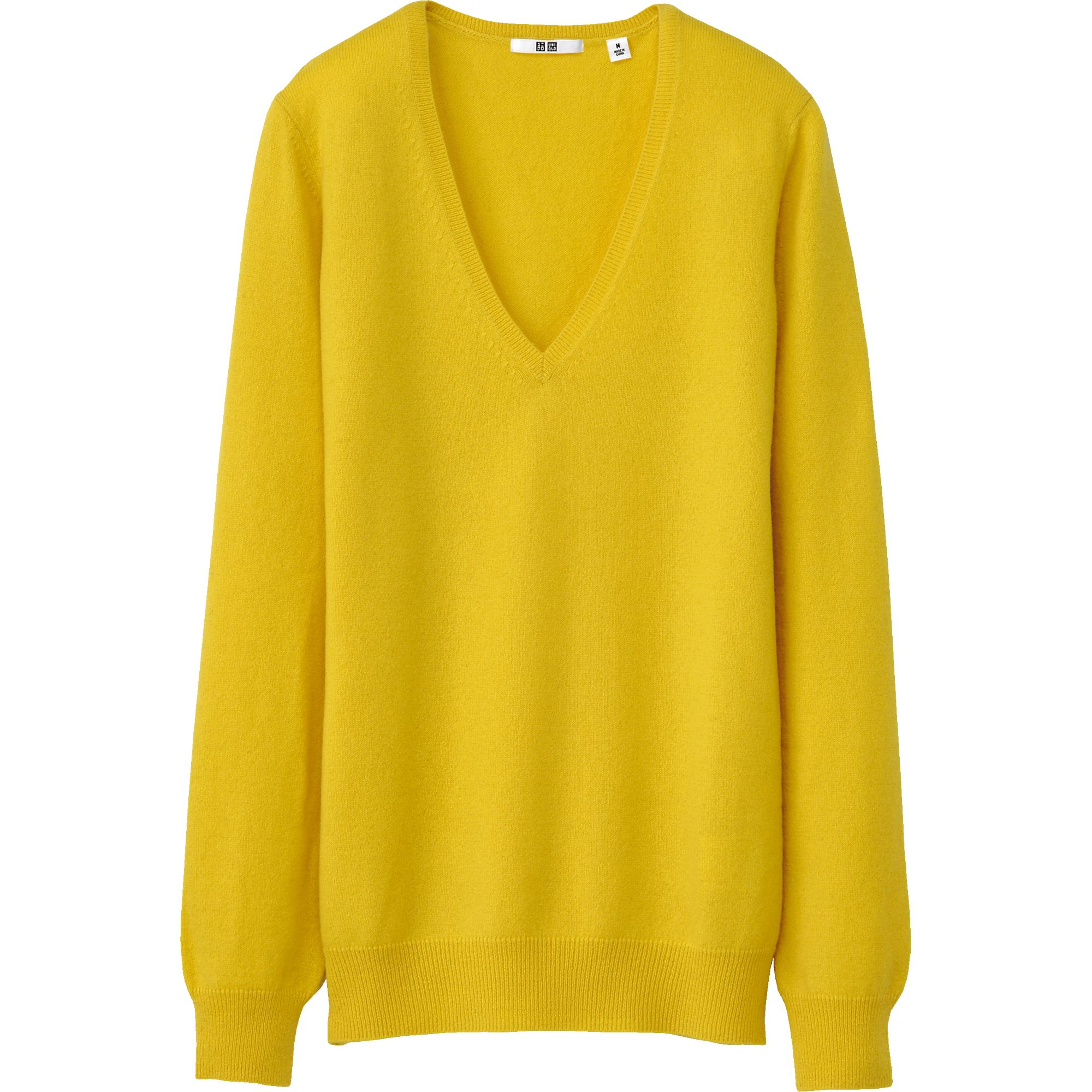 Yellow V Neck Sweater 95
