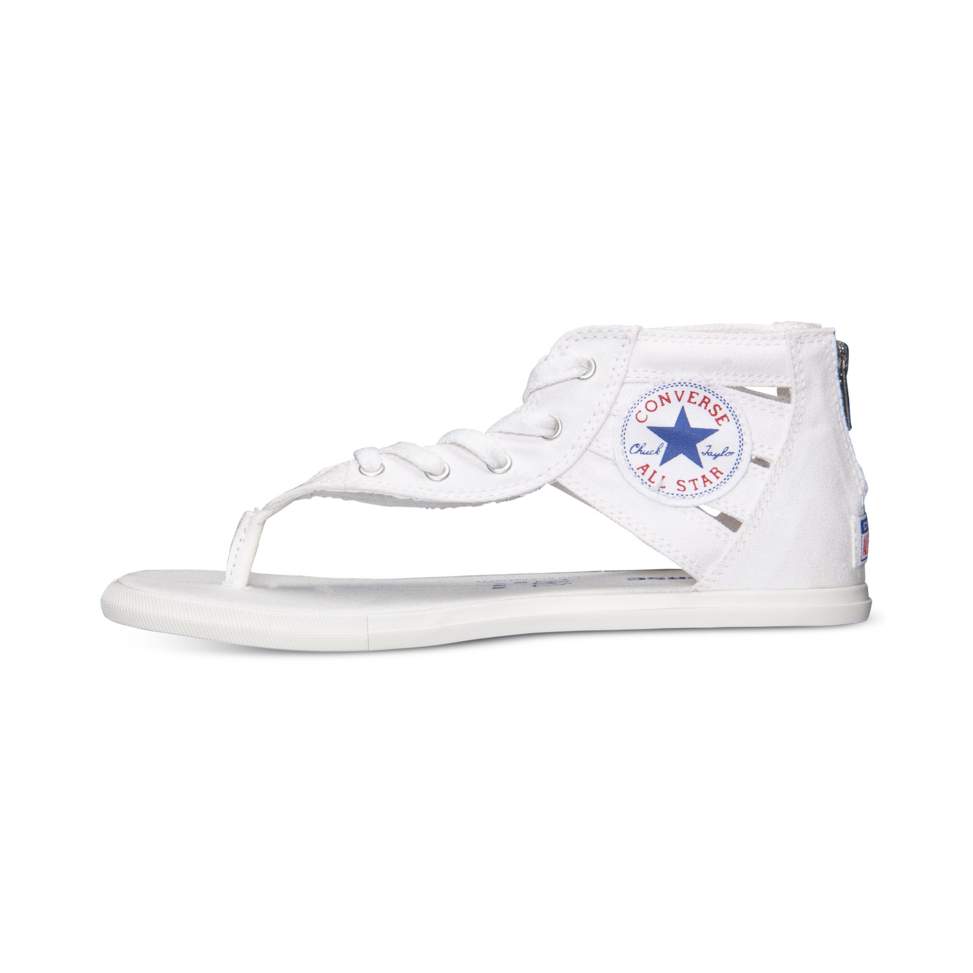 ee426749448 Lyst - Converse Women s Chuck Taylor Gladiator Thong Sandals From ...