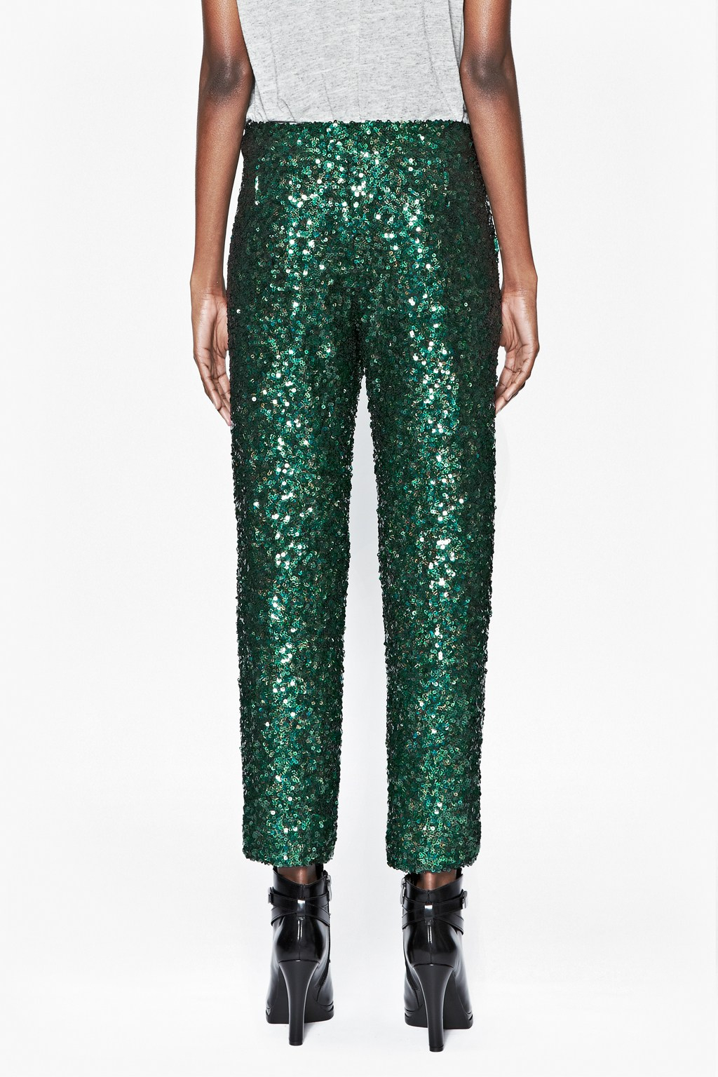 Lyst French Connection Sequined Skinny Pants In Black