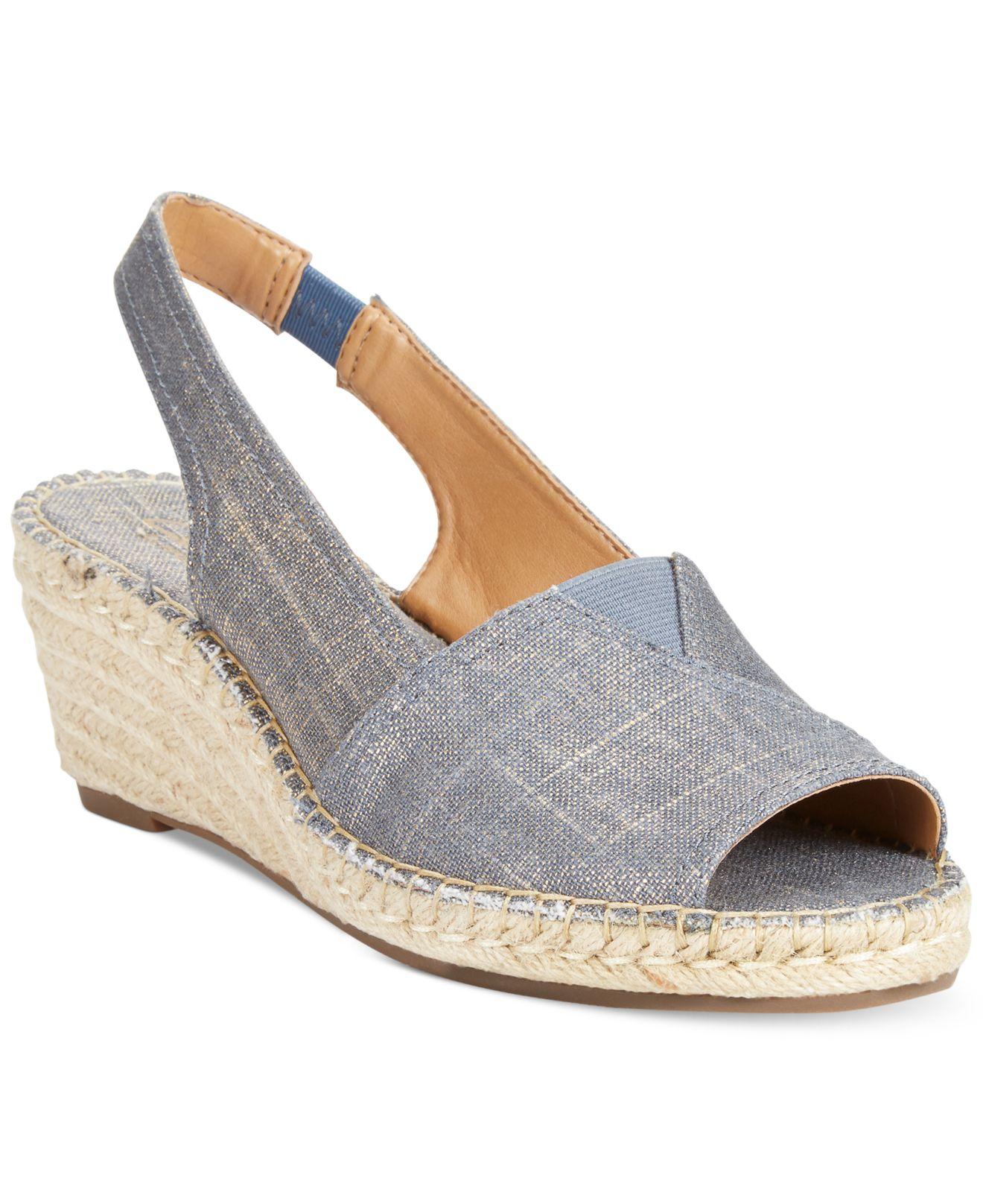 4db934bdadb Clarks Blue Artisan Women'S Petrina Rhea Espadrille Wedge Sandals