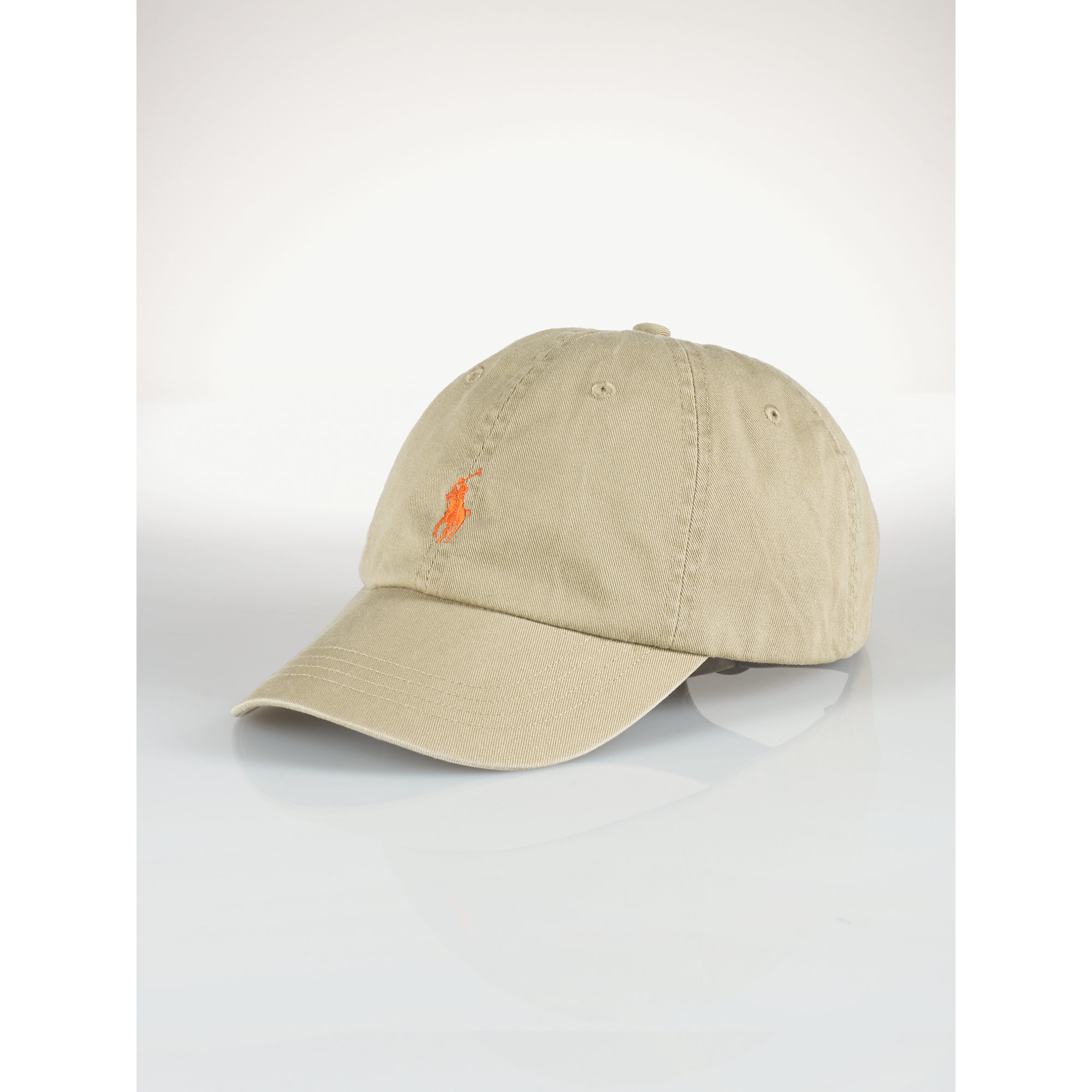 polo ralph lauren cotton chino baseball cap in green for men military. Black Bedroom Furniture Sets. Home Design Ideas