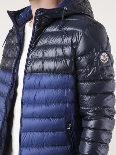 Where Can I Buy Moncler Coats Mens - Clothing Moncler Contrast Puffer Coat Blue