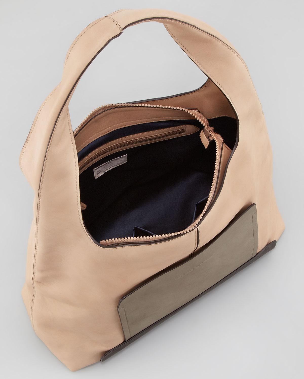 Lyst Brunello Cucinelli Colorblock Leather Hobo Bag