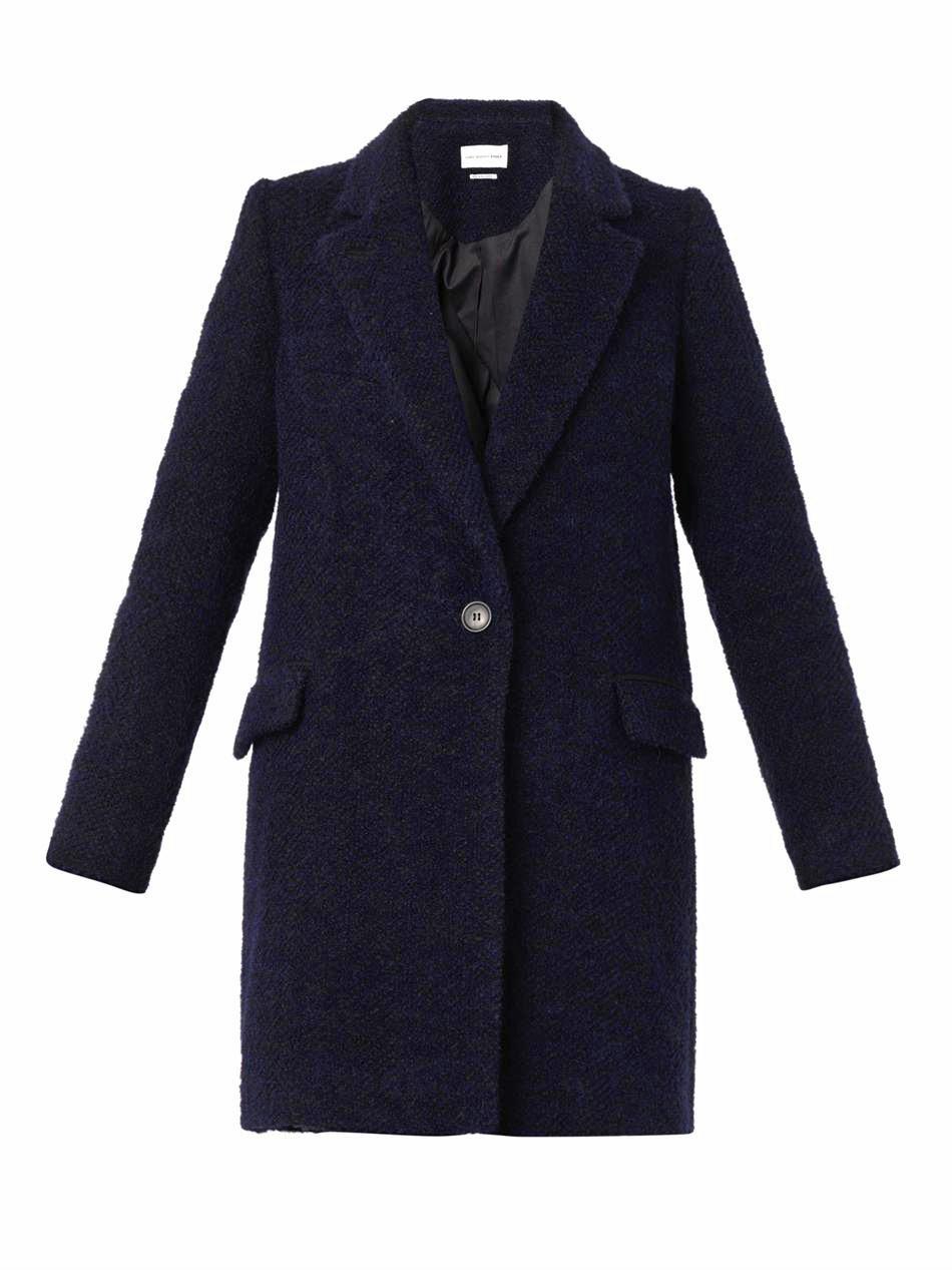 Étoile isabel marant Daphne Wool-blend Coat in Blue | Lyst