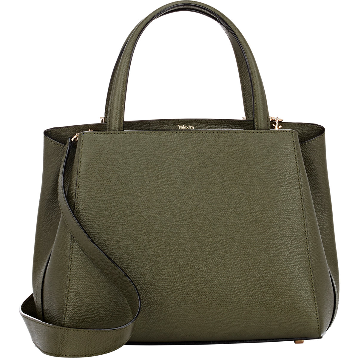 Valextra Triennale Small Satchel in Green