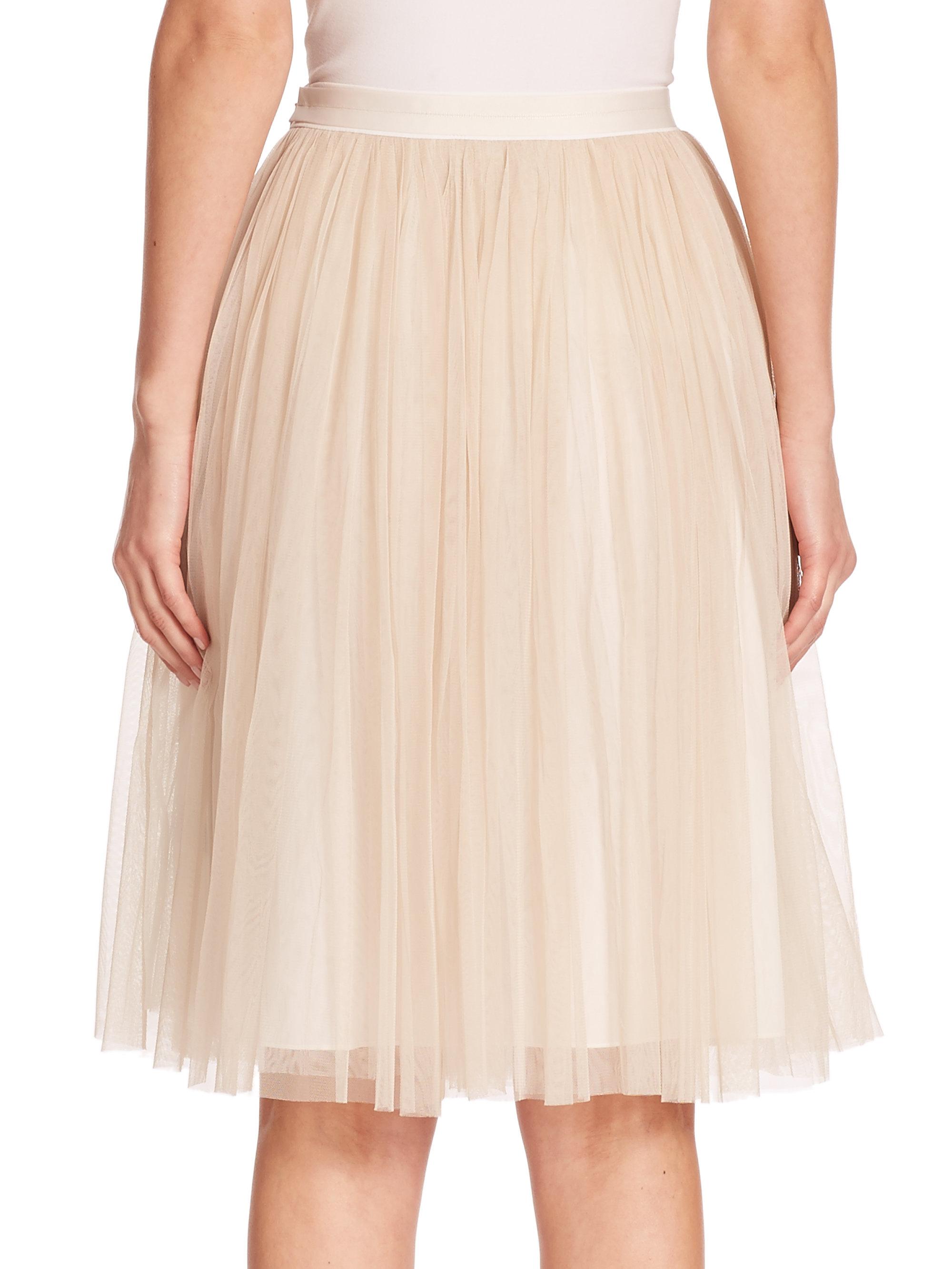 latest professional variety styles of 2019 Needle & Thread Tulle Midi Skirt in Chalk (White) - Lyst
