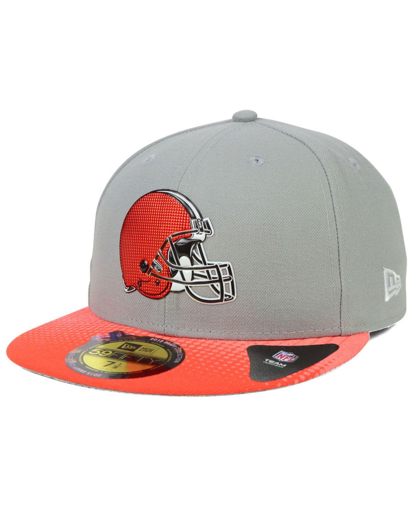 Men S Cleveland Browns New Era Gray 2015 Nfl Draft 59fifty