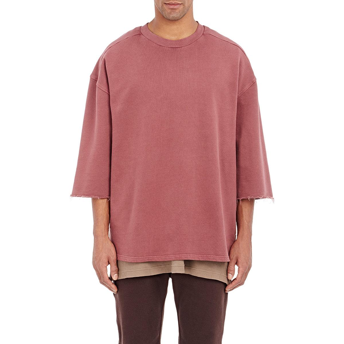 Yeezy Purple Men's French Terry Sweatshirt for men