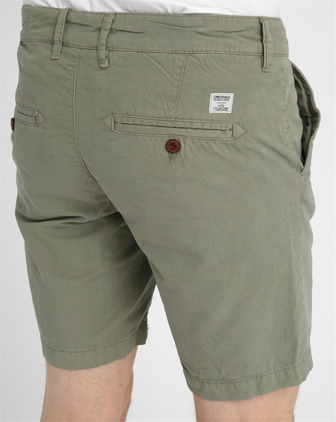 jack jones grey din chino cotton bermuda shorts in green for men. Black Bedroom Furniture Sets. Home Design Ideas
