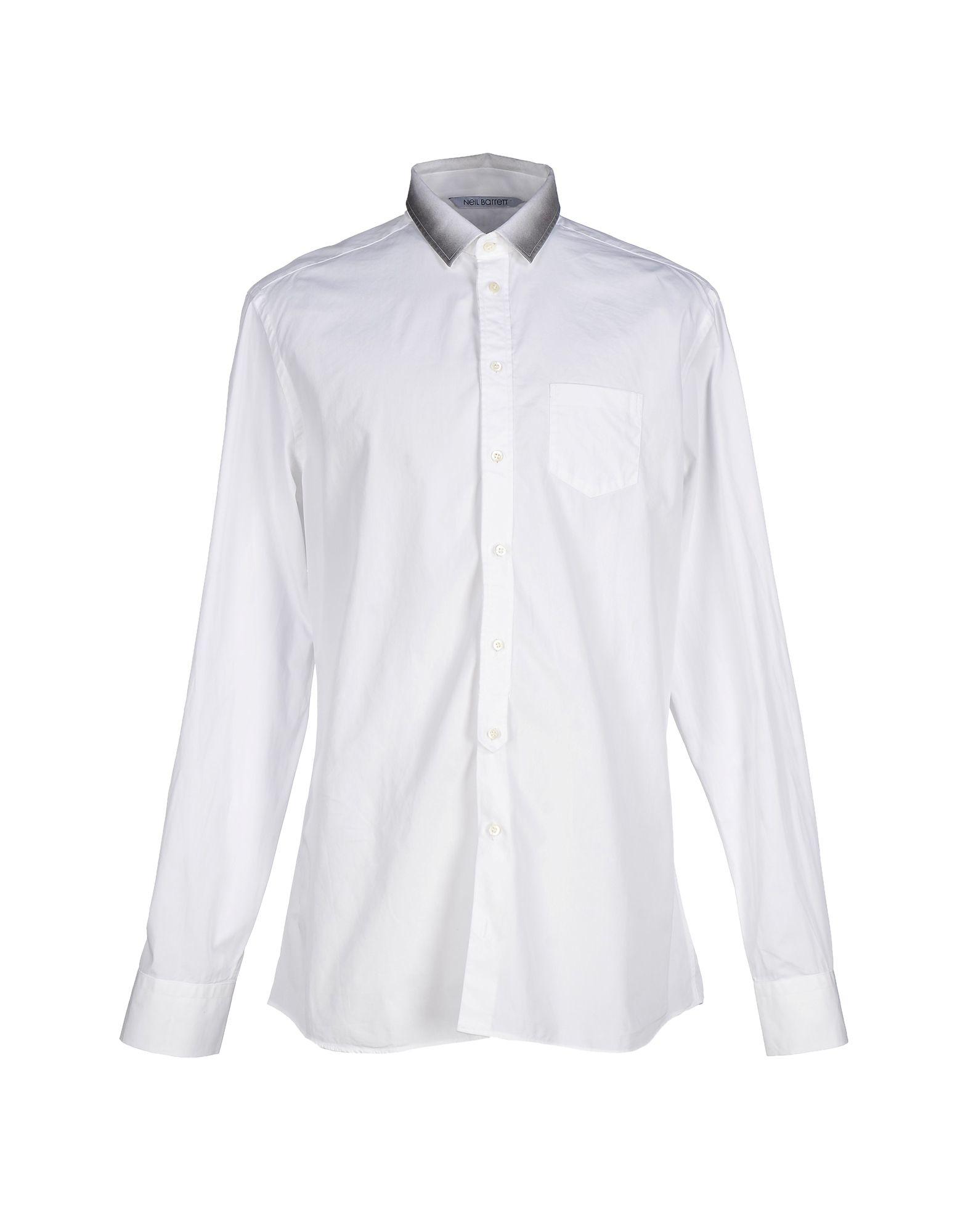 Lyst neil barrett shirt in white for men for Neil barrett tuxedo shirt