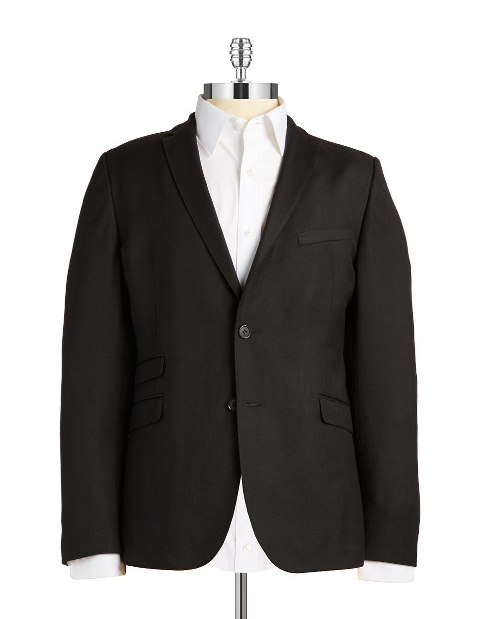 strellson slim fit blazer in black for men lyst. Black Bedroom Furniture Sets. Home Design Ideas