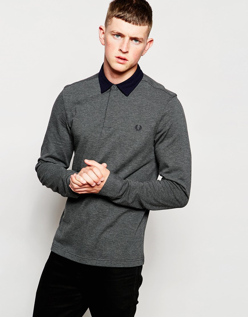fred perry long sleeve polo. Black Bedroom Furniture Sets. Home Design Ideas