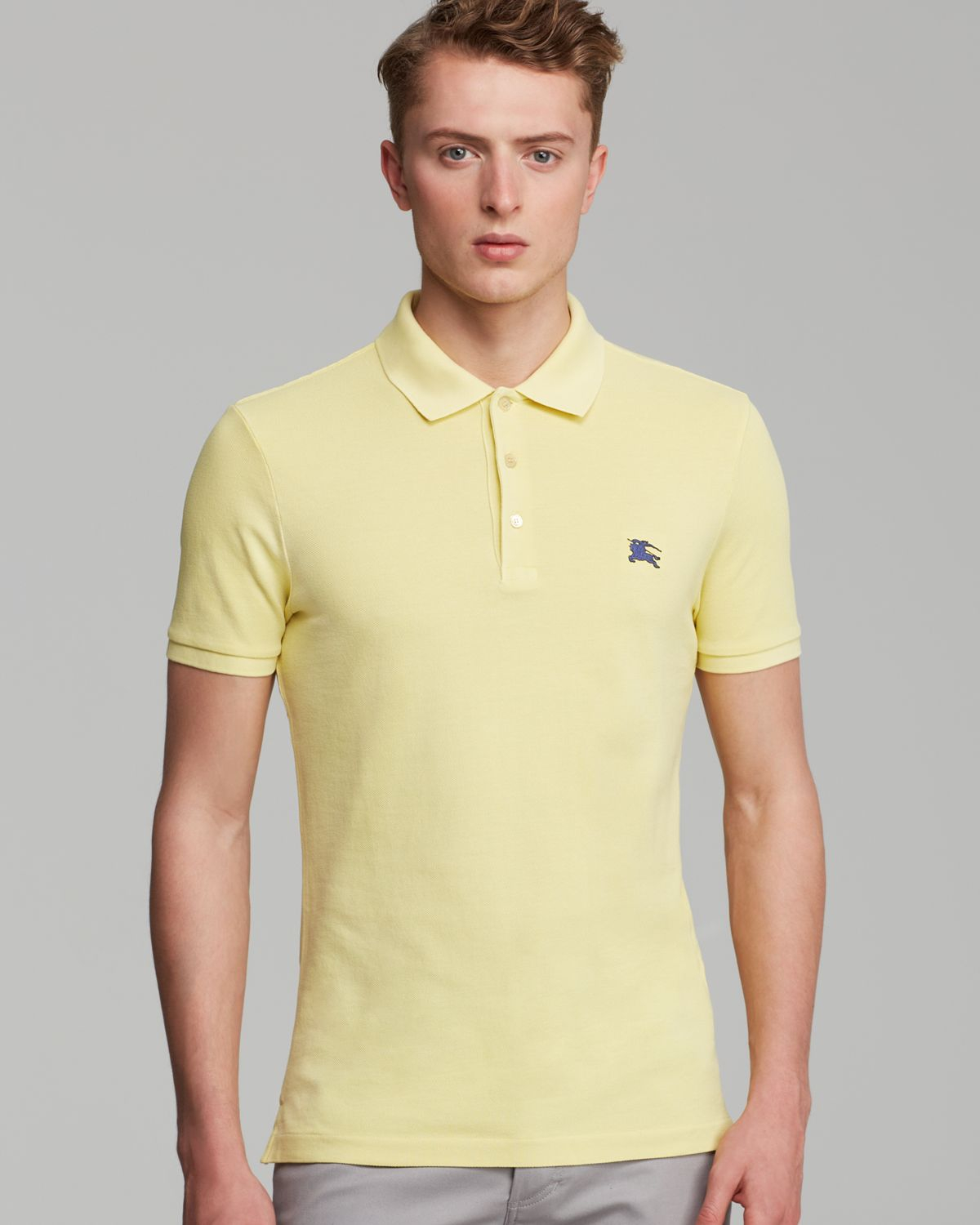 d0244378b Burberry Brit Cassius Classic Polo in Yellow for Men - Lyst