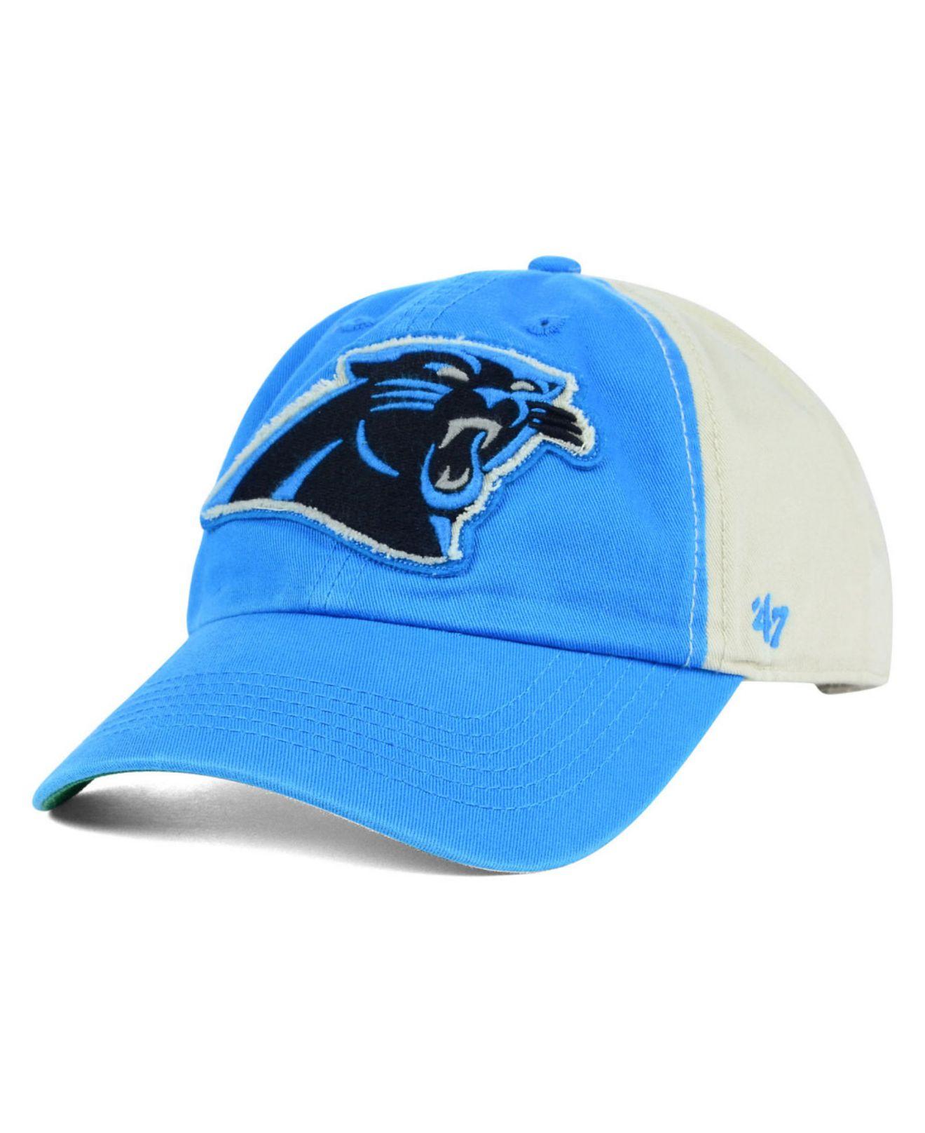 7bb758986d4 Lyst - 47 Brand Carolina Panthers Nfl Derby Clean Up Cap in Black ...