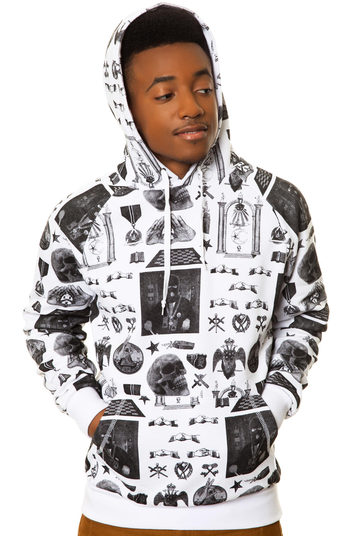 Lyst Crooks And Castles The Shriners Hoodie In White For Men