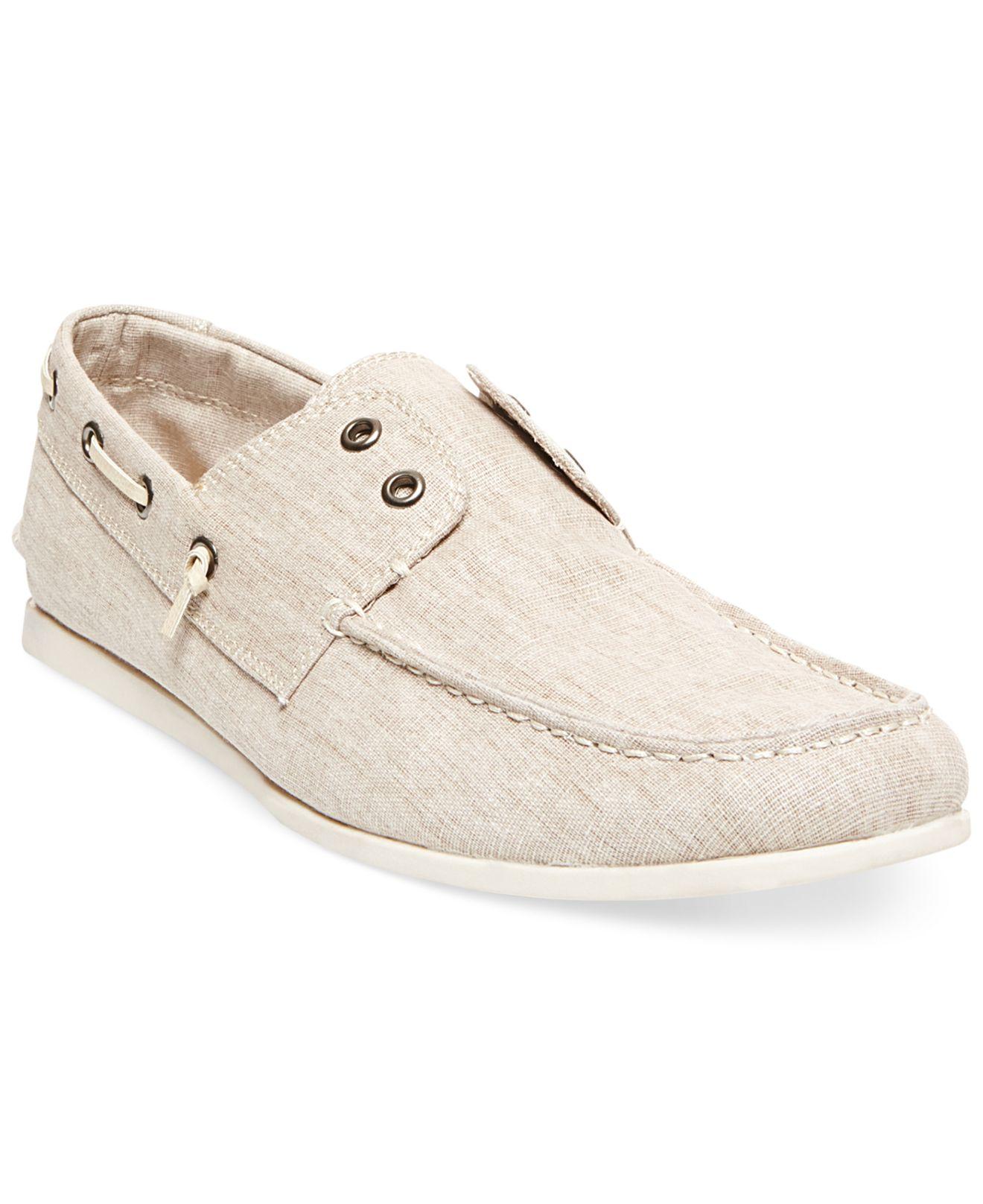 74de280a503 Steve Madden Natural Madden Glide Laceless Boat Shoes for men