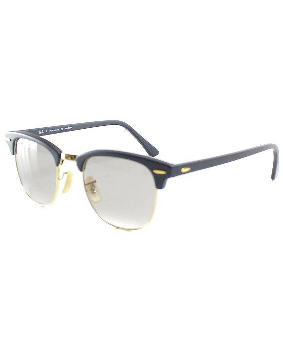 ray ban rb3016 clubmaster sunglasses rko4  ray ban clubmaster rb3016 polarized sunglasses in black silver