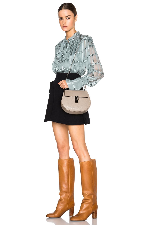 Drew Grain Leather Uamp Calfskin Bag In Beige Gray Lyst