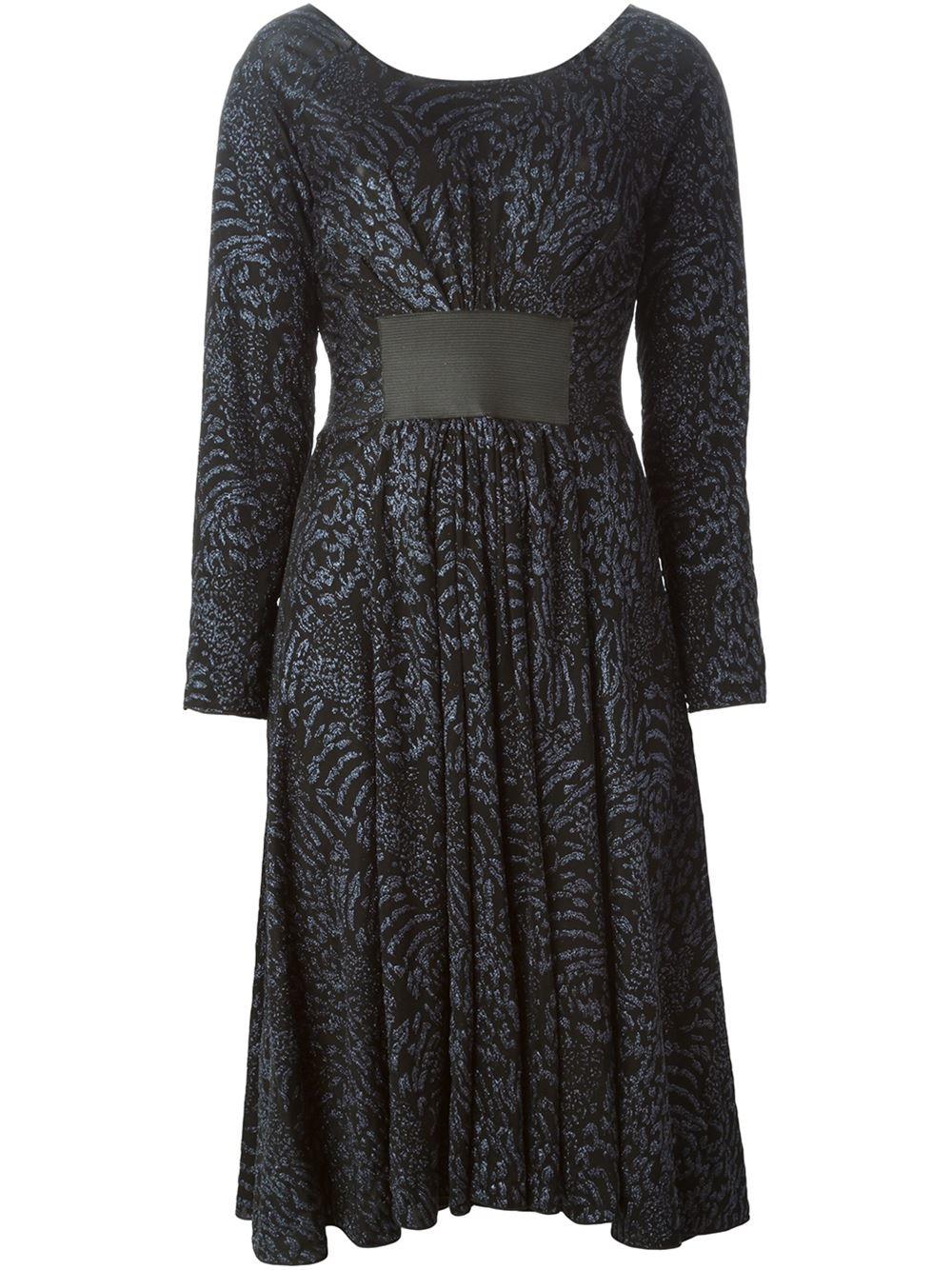 armani belt panel dress in blue lyst
