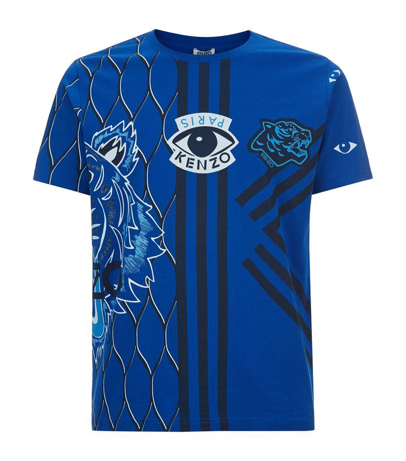 kenzo multi tiger logo t shirt in blue for men lyst. Black Bedroom Furniture Sets. Home Design Ideas
