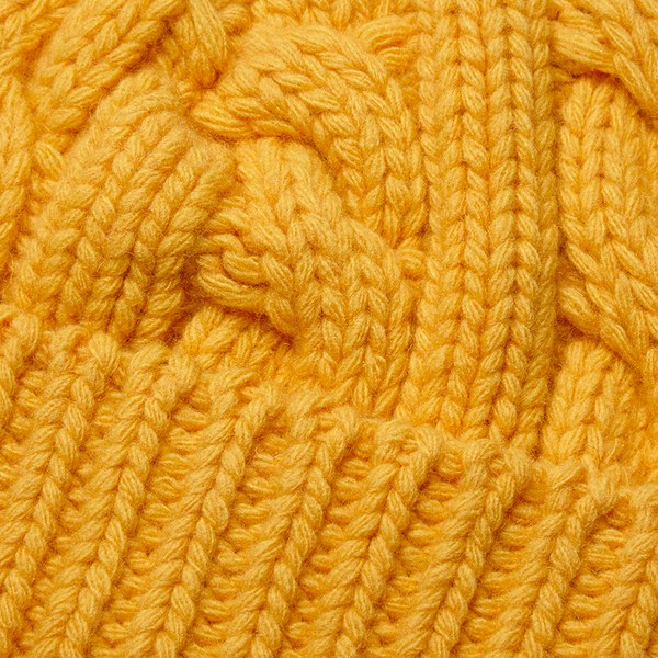 c6d838a6385 Oliver Spencer Men s Cable Knit Beanie Hat in Yellow for Men - Lyst