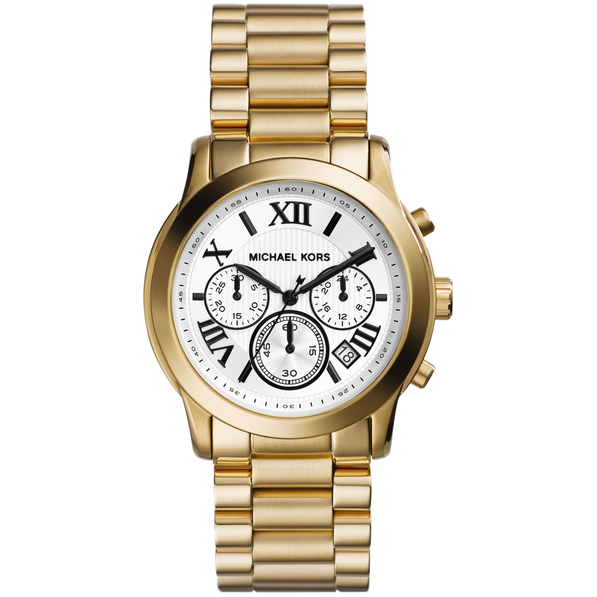 michael kors women 39 s chronograph cooper gold tone stainless steel bracelet watch 39mm mk5916 in. Black Bedroom Furniture Sets. Home Design Ideas