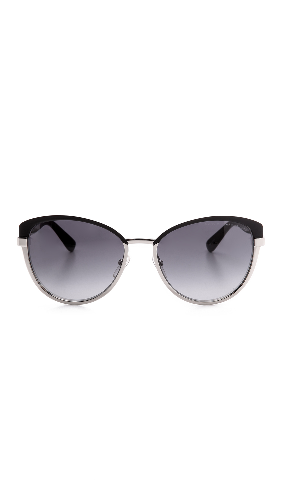 Marc By Marc Jacobs Two Tone Cat Eye Sunglasses - Gold/brown Gradient in Grey