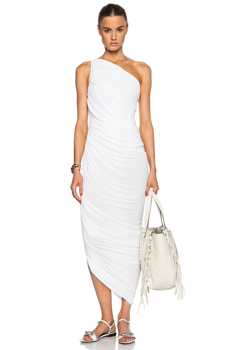 Lyst Norma Kamali Diana Dress In White