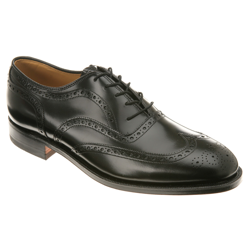 Men's Lace Ups Oxfords/Johnston Murphy Greenwich Black Polished