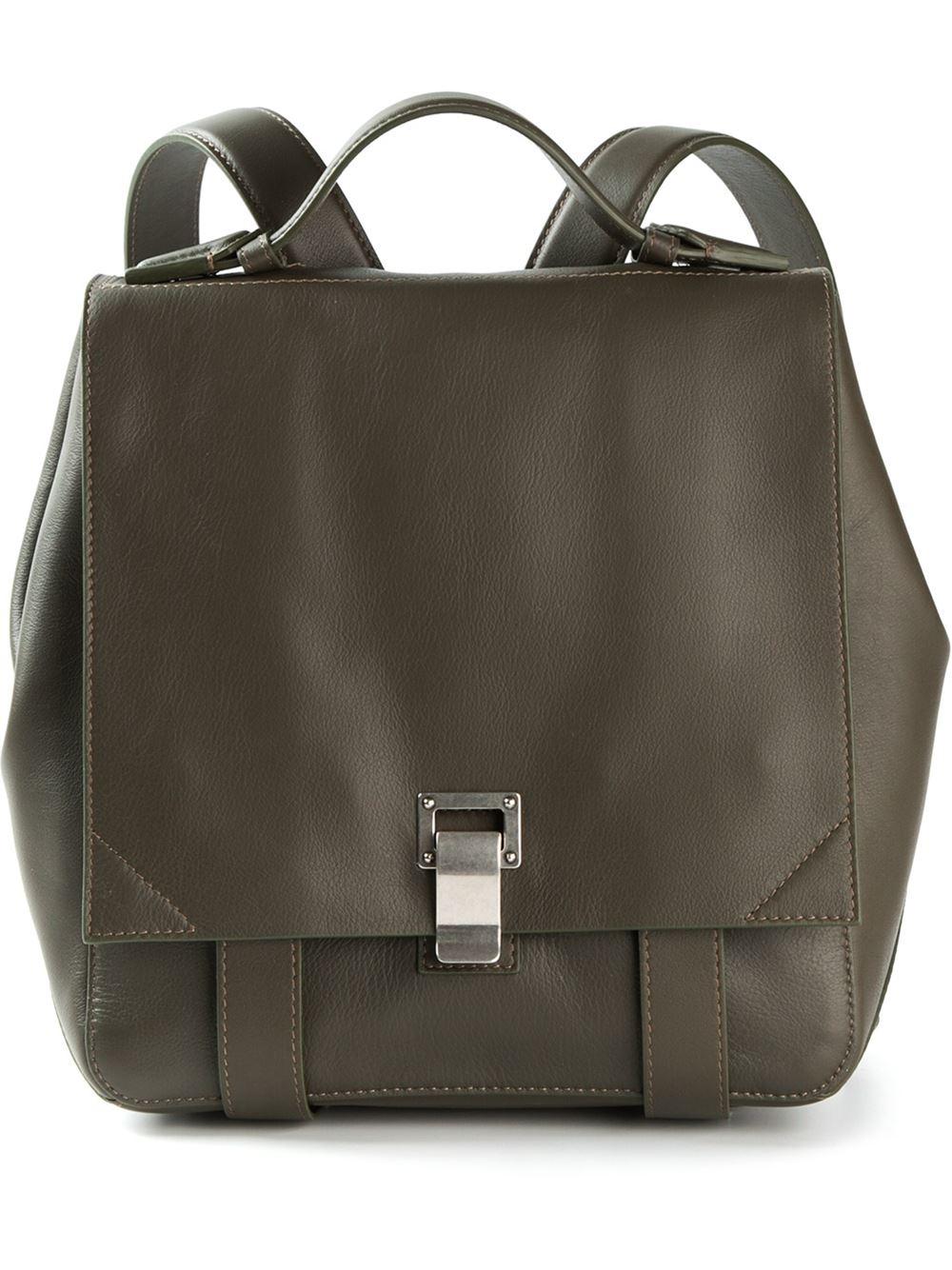 Proenza Schouler Courier Backpack in Green