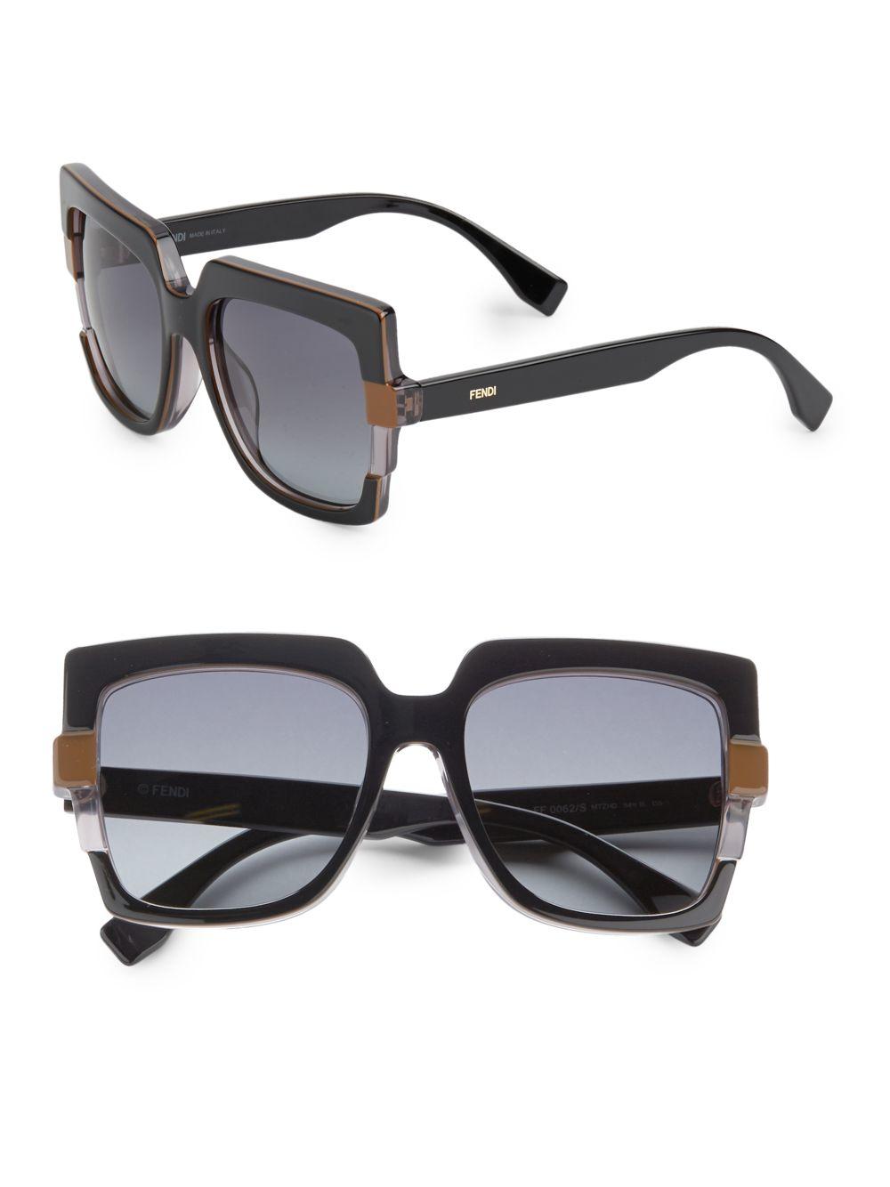 Lyst Fendi 54mm Oversized Square Sunglasses In Black
