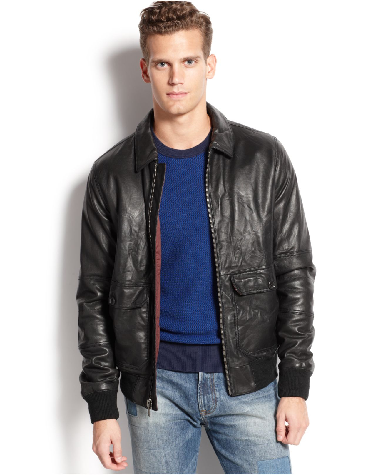 9e1cb3aa0 Tommy Hilfiger Black Cambridge Leather Jacket for men