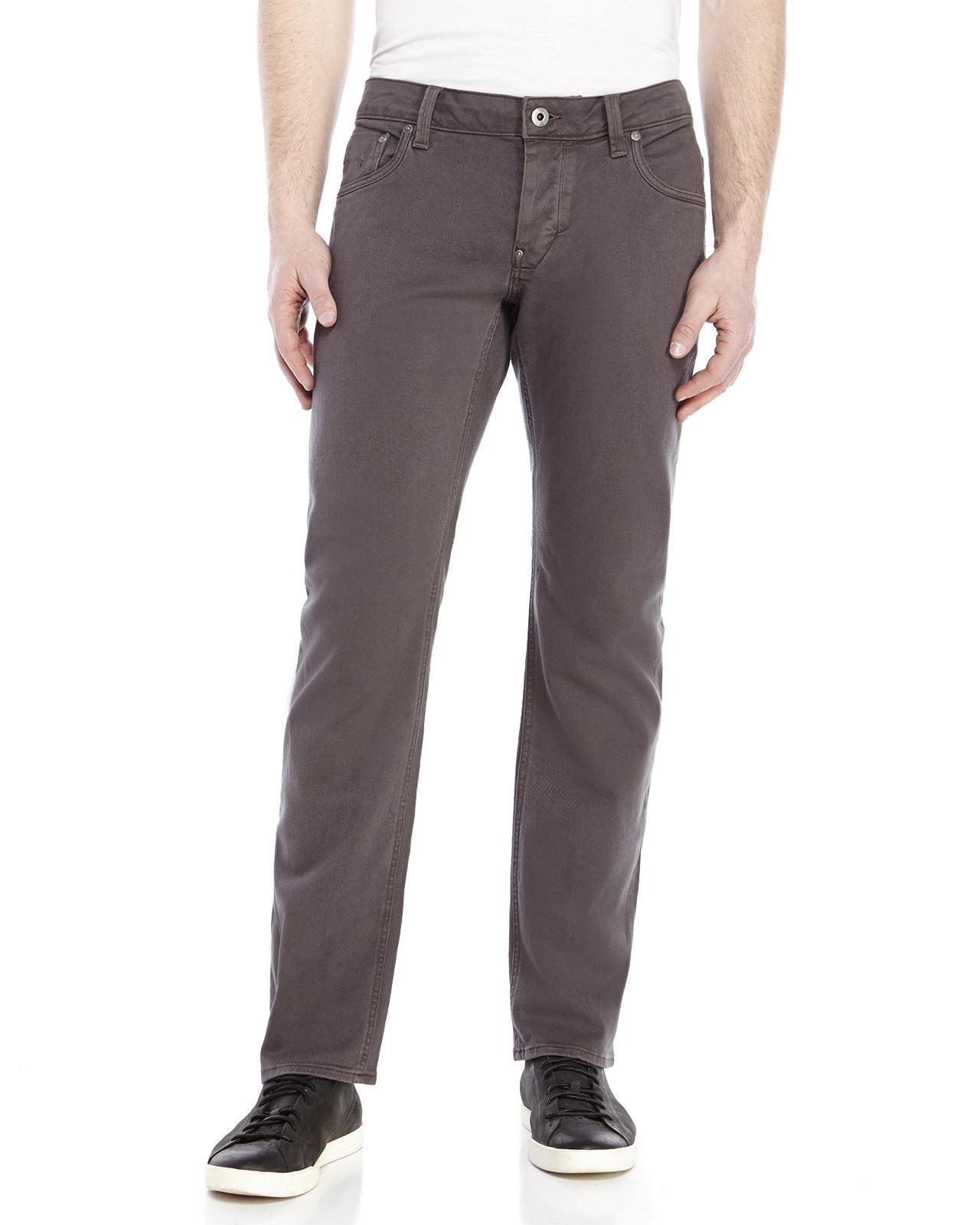 g star raw attac slim straight leg jeans in gray for men. Black Bedroom Furniture Sets. Home Design Ideas