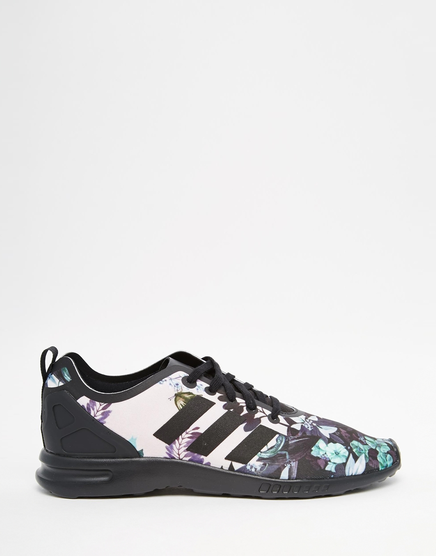 online retailer 18457 98aee Adidas Originals Multicolor Originals Botanical Floral Zx Flux Trainers