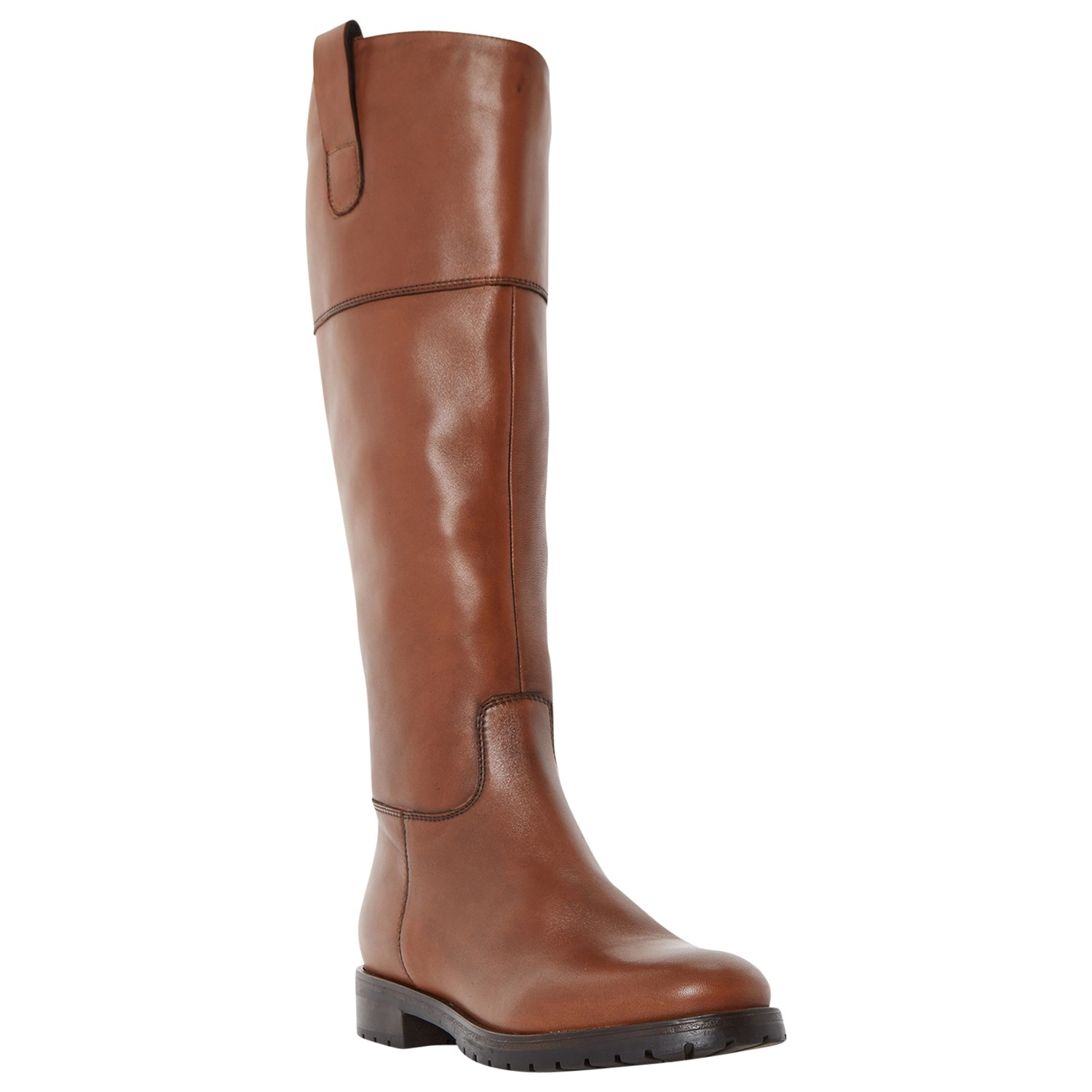 dune timi knee high heeled boots in brown lyst