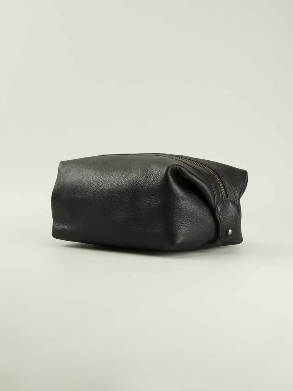 6bcd5cb75c Lyst - Polo Ralph Lauren Leather Classic Wash Bag in Black for Men