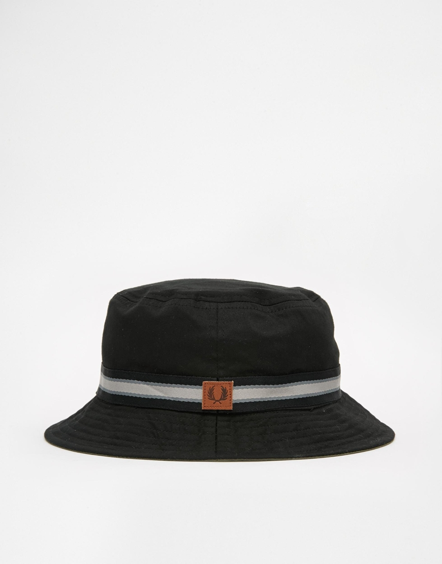 3a7a12b79d7 Lyst - Fred Perry Reversible Bucket Hat in Black for Men