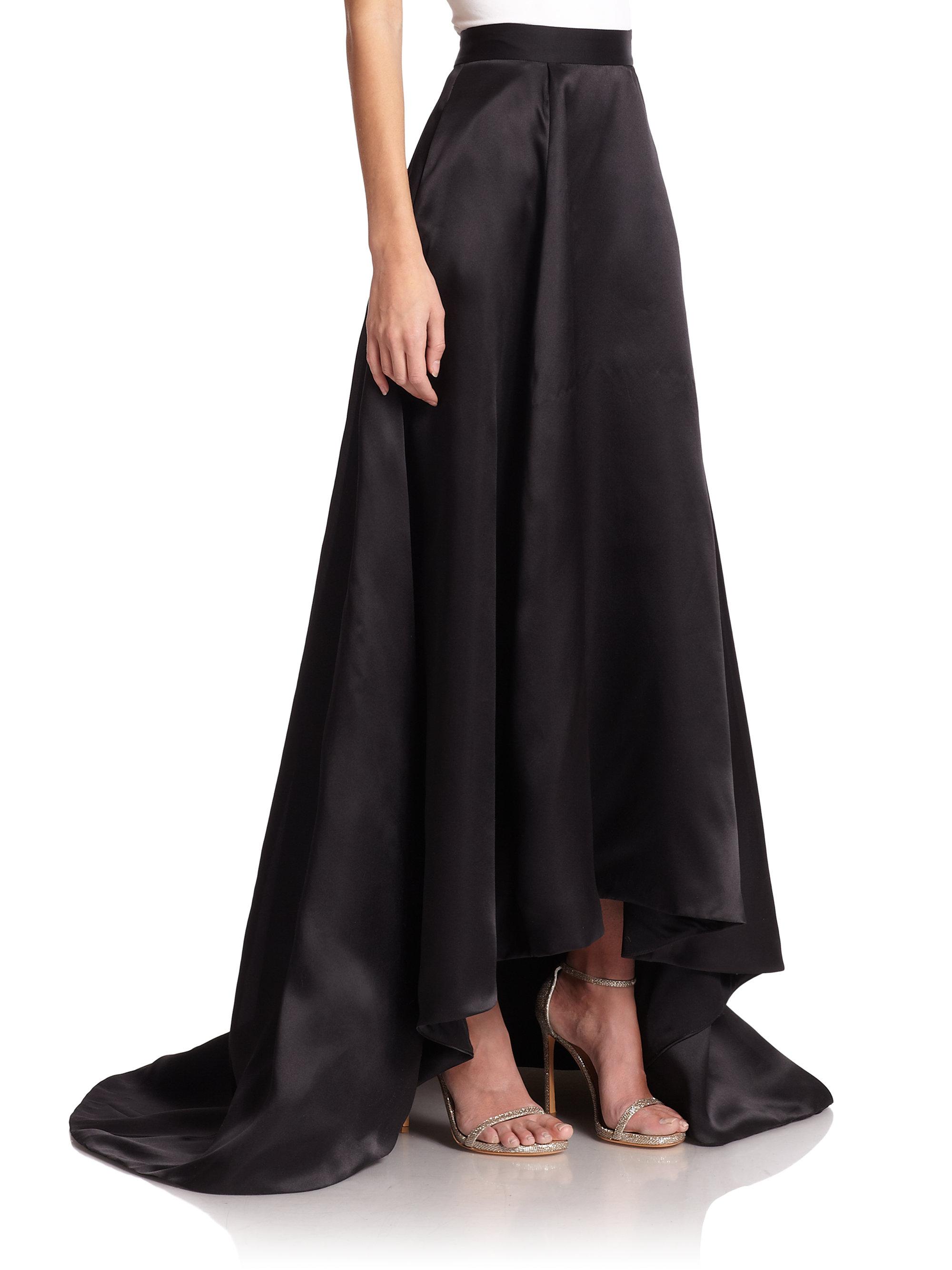 St. john Silk Satin Ball Gown Skirt in Black | Lyst