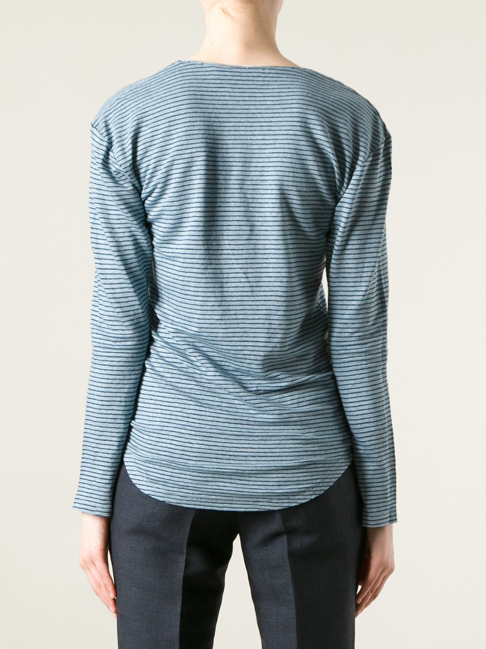 Toile isabel marant striped long sleeve t shirt in blue Striped long sleeve t shirt