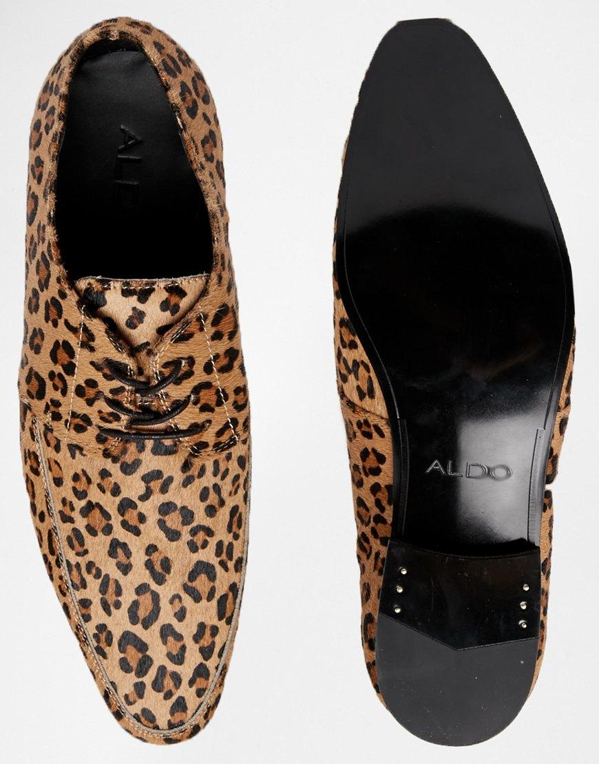 8b6f25fdc2c8 ALDO Kurtis Leopard Derby Shoes in Brown for Men - Lyst