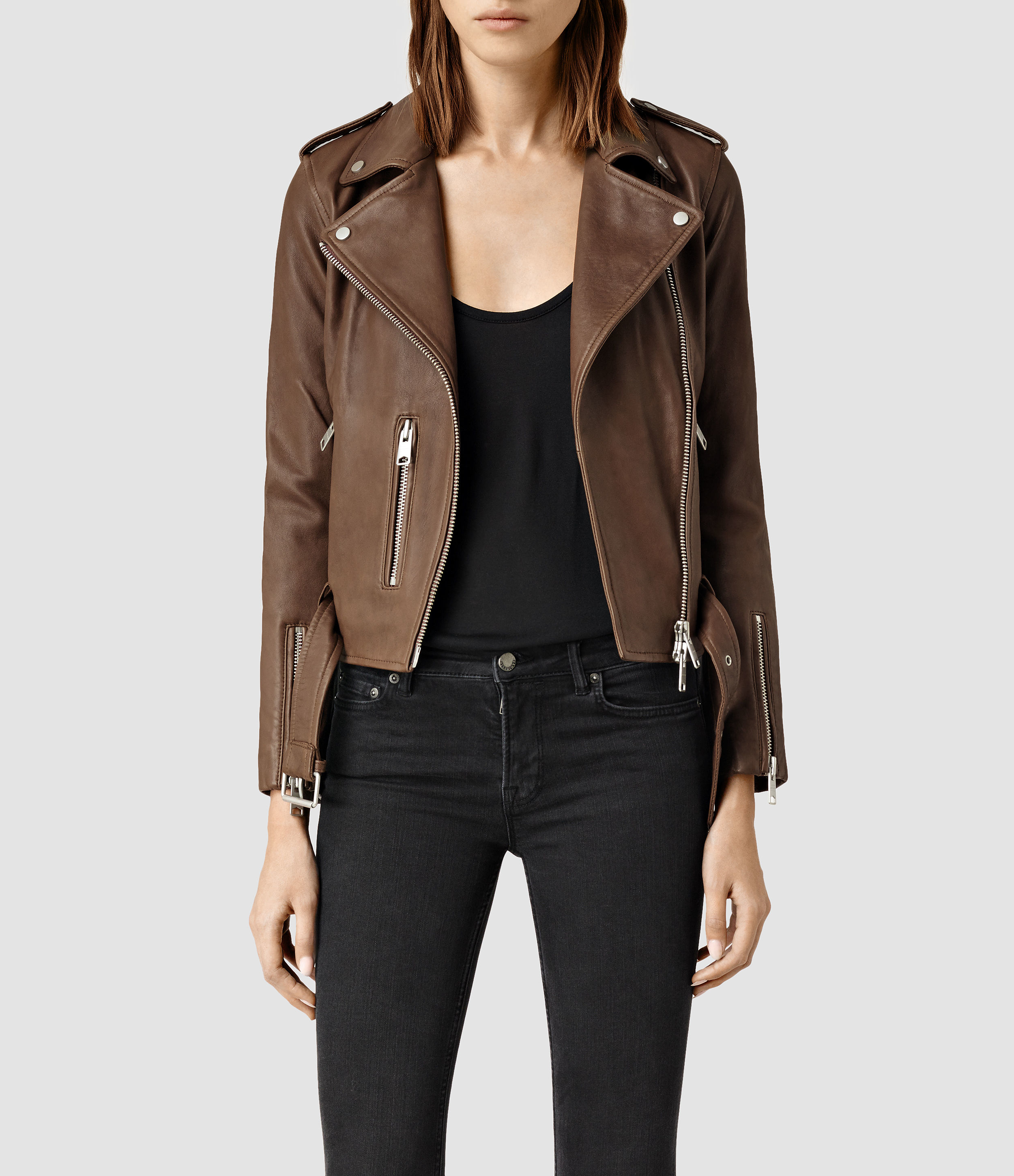 All leather jackets