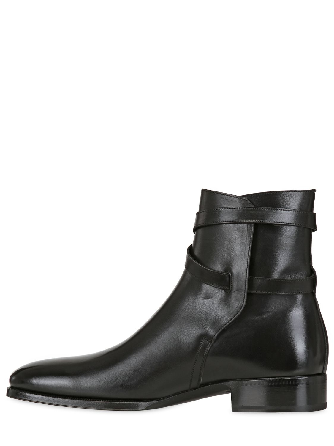 Lyst Max Verre Leather Belted Ankle Boots In Black For Men