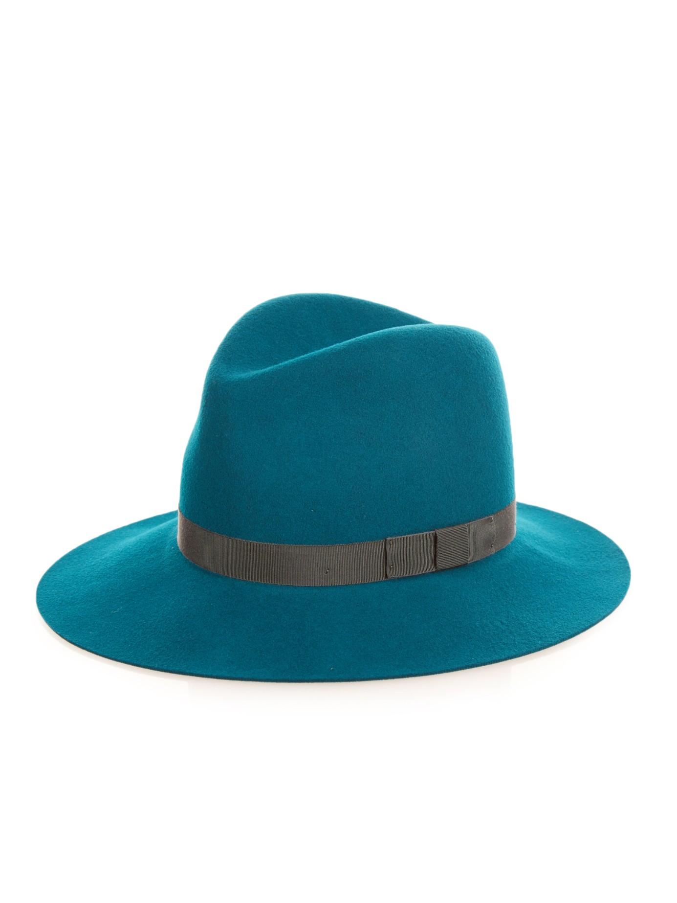 a71f5734f Rag & Bone Green Floppy Brim Wool-felt Fedora Hat